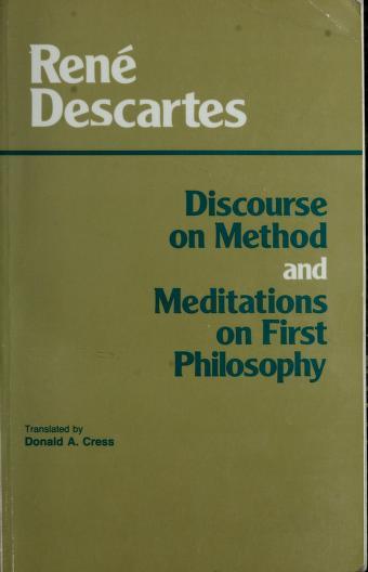 Cover of: Discours de la méthode | René Descartes